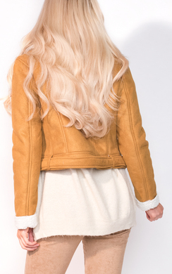 View the Becci Biker Faux Suede Fur Jacket online at iKrush