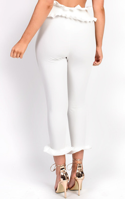 View the Carovina  Frill Tailored Trousers online at iKrush