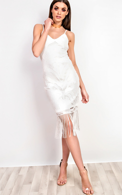 View the Fleur Lace Fringe Cami Dress online at iKrush