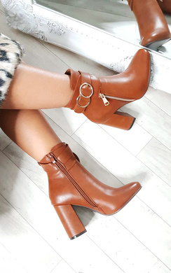View the Tiara Hoop Zip Ankle Boots online at iKrush