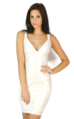 View the Tulisa Gold Foil Bodycon Dress online at iKrush