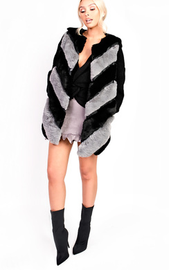 View the Jess Faux Fur Waistcoat online at iKrush