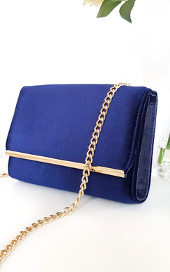 View the Millar Velvet Gold Chain Cross Body Bag online at iKrush