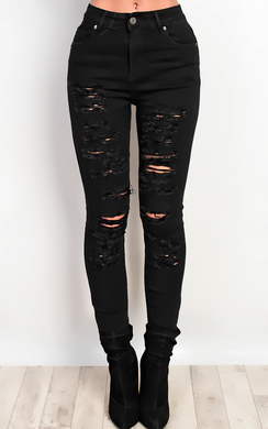 View the Kinsey Ripped Skinny Jeans online at iKrush