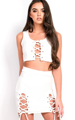 View the Niah Lace up Co-ord online at iKrush