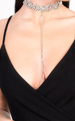View the Katie Diamante Choker Necklace online at iKrush