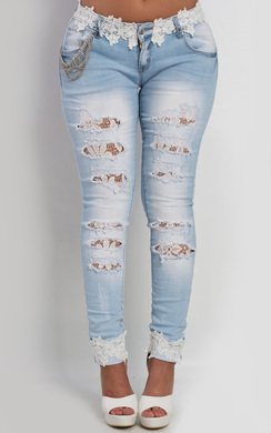 View the Roux Lace Skinny Jeans online at iKrush