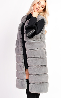View the Cadie Faux Fur Waistcoat online at iKrush