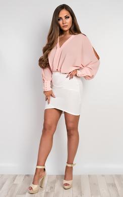 View the Lila Chiffon Bodysuit  online at iKrush
