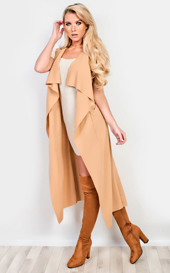 View the Kasey Sleeveless Duster Coat online at iKrush