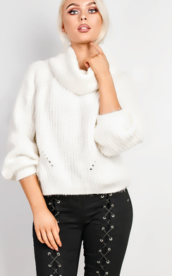 View the Maritza Off Shoulder Oversized Jumper online at iKrush