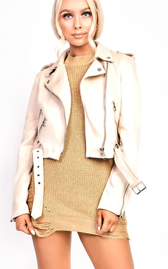 View the Lettie Biker Faux Suede Jacket online at iKrush
