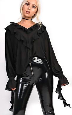 View the Aneesa Frill Pleated Blouse Top online at iKrush