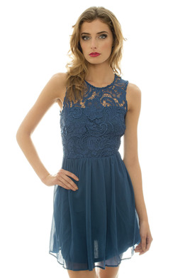 View the Ora Crochet Style Skater Dress online at iKrush