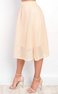 View the Helena Textured Stripe Circle Skirt  online at iKrush