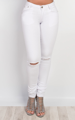 View the Galina Ripped Skinny Jeans  online at iKrush
