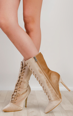 View the Kimberly Velvet Ankle Boots  online at iKrush