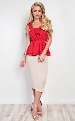 View the Lise Cut-Out Ruffle Top online at iKrush