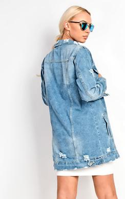 View the Hrush Distressed Denim Jacket  online at iKrush