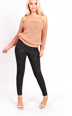 View the Piper Cold Shoulder Knitted Top online at iKrush