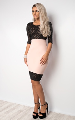 View the Macie Laser-Cut Bodycon Dress online at iKrush