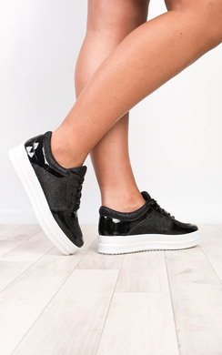 View the Zoe Sparkle Platform Trainers online at iKrush