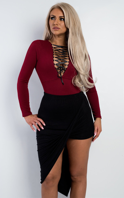 View the Hava Lace Up Bodysuit  online at iKrush