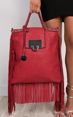 View the Naamah Fringed Handbag online at iKrush
