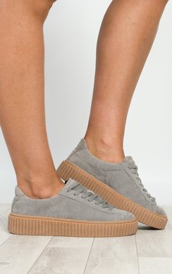 View the Breza Faux Suede Platform Shoes  online at iKrush