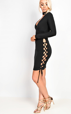 View the Reyna Wrap Bodycon Dress online at iKrush