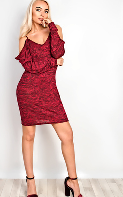View the Aislynne Cold Shoulder Shift Dress online at iKrush