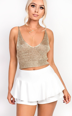 View the Jayde Frill High Waist Stretch Shorts online at iKrush