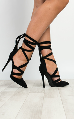 View the Amaris Tie Up Stiletto Heels  online at iKrush