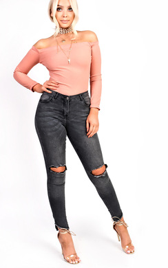 View the Anya Ripped Skinny Jeans online at iKrush