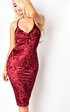 View the Milla Velour Bodycon Dress online at iKrush