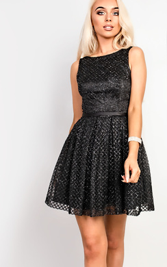 View the Lexi Glitter Skater Dress online at iKrush