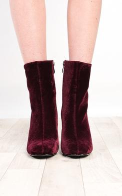 View the Yazmin Velvet Heeled Boots online at iKrush