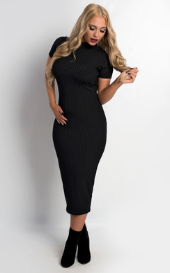 View the Nora Ribbed Bodycon Dress online at iKrush