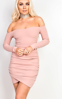 View the Tiana Off Shoulder Bodycon Dress online at iKrush