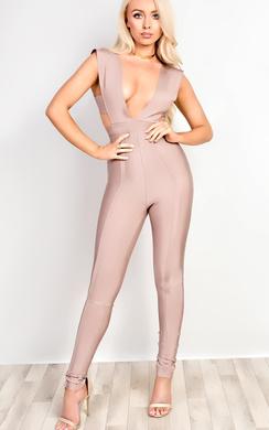 View the Aisha Bandage Bodycon Jumpsuit online at iKrush