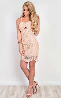 View the Abia Crochet Bodycon Dress online at iKrush