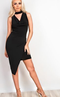 View the Bella Slinky Choker Neck Bodycon Dress online at iKrush