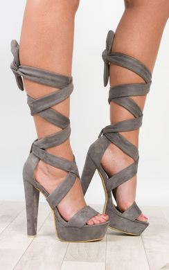 View the Echo Tie-Up High Heels online at iKrush