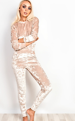 View the Amelia Crushed Velvet Jogger Set online at iKrush