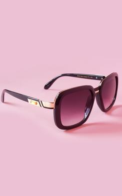 View the Yolanda Black Metal Detail Sunglasses online at iKrush