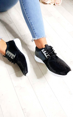 View the Kelise Sequin Lace Up Trainers online at iKrush