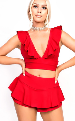View the Lillz Frill Crop Top  online at iKrush
