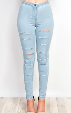 View the Alisiah Ripped Skinny Jeans online at iKrush