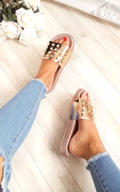 View the Lillian Studded Sliders online at iKrush