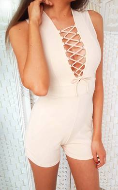 View the Priya Lace Up Playsuit online at iKrush